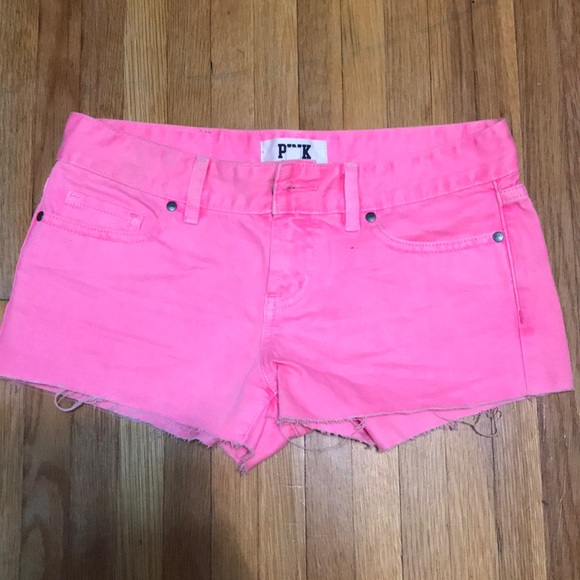 PINK Victoria's Secret Pants - Victoria secret neon pink shorts